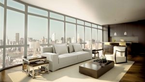 incredible-design-interior-of-modern-apartment-hotel-ideas-photo-recommending-open-plan-living-room-with-small-kitchen-inside-large-glass-windows-more-view-top-city-and-elegant-white-sofa-among-drum-s-1120x6