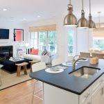 kitchen dining and living room design luxury open kitchen floor plans 1