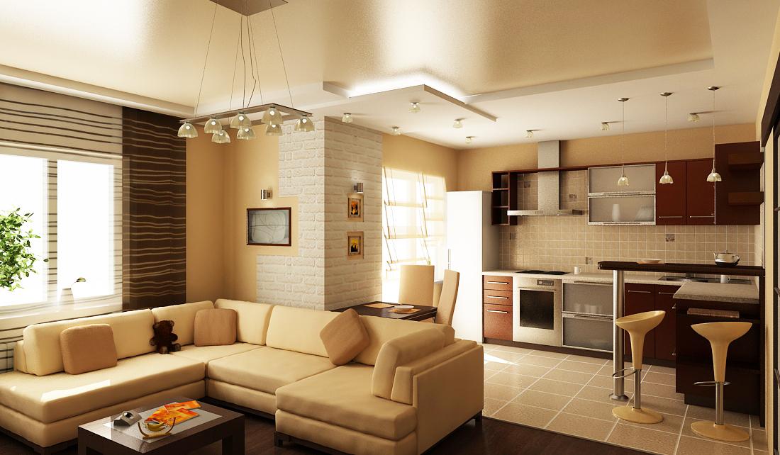 Кухня вместе с гостиной дизайн