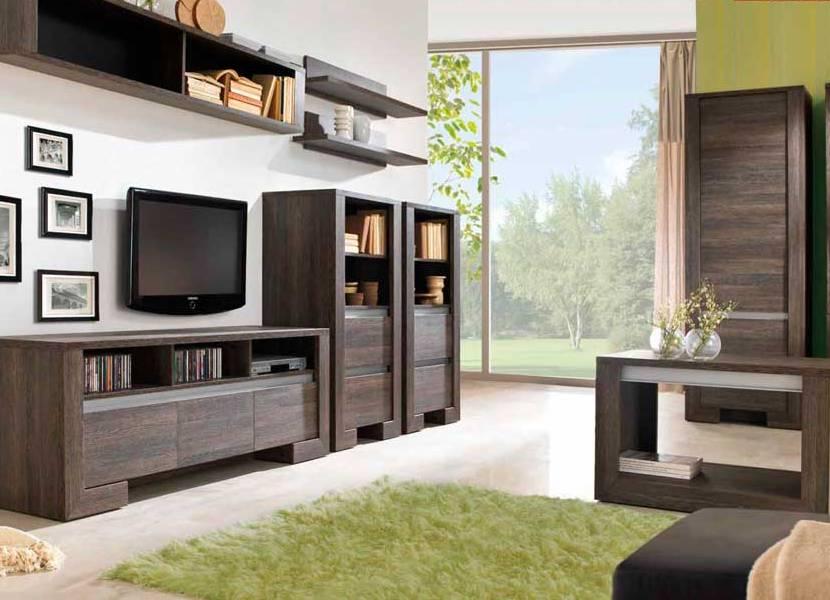 Линейное расположение модульных систем в гостиной