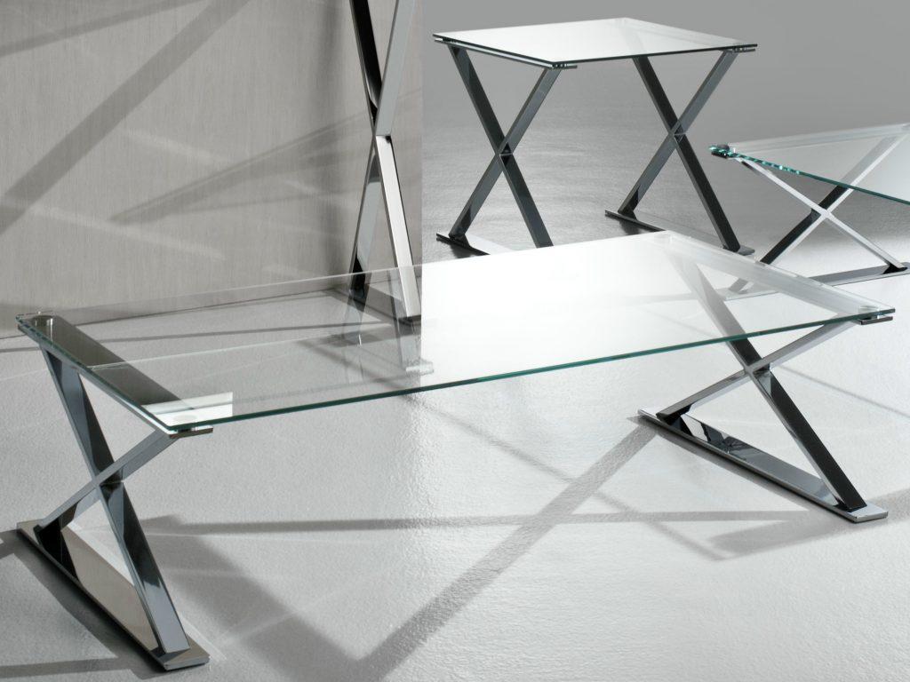Стеклянный журнальный столик - трансформер