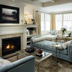 living room furniture ideas with fireplace 7