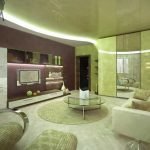 living room interior design with stretch ceiling and living room nterior design with theater