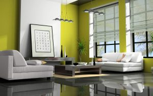 living-room-schemes-green-decorating-ideas-interior-living-room-bright-colors-presenting-white-green-wall-paint-modern-vinyl-sofas-wooden-coffee-desk-storage-black-glossy-flooring-glass-tiled-open-flo