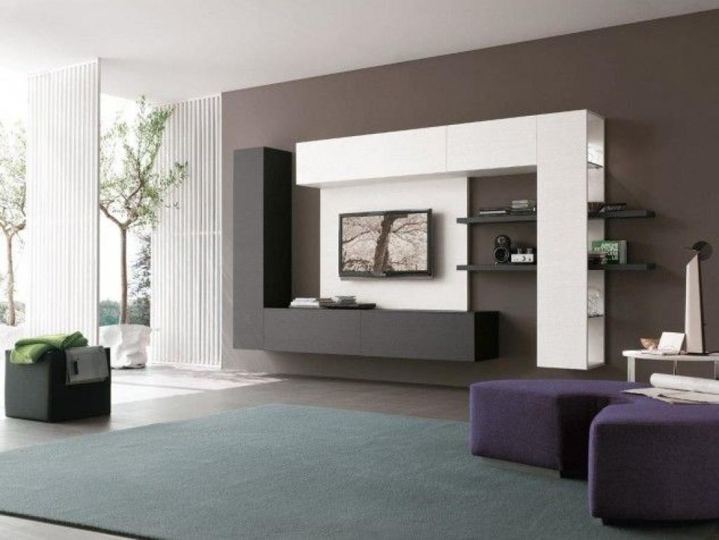 Стенка в гостиной в стиле минимализм в современном интерьере