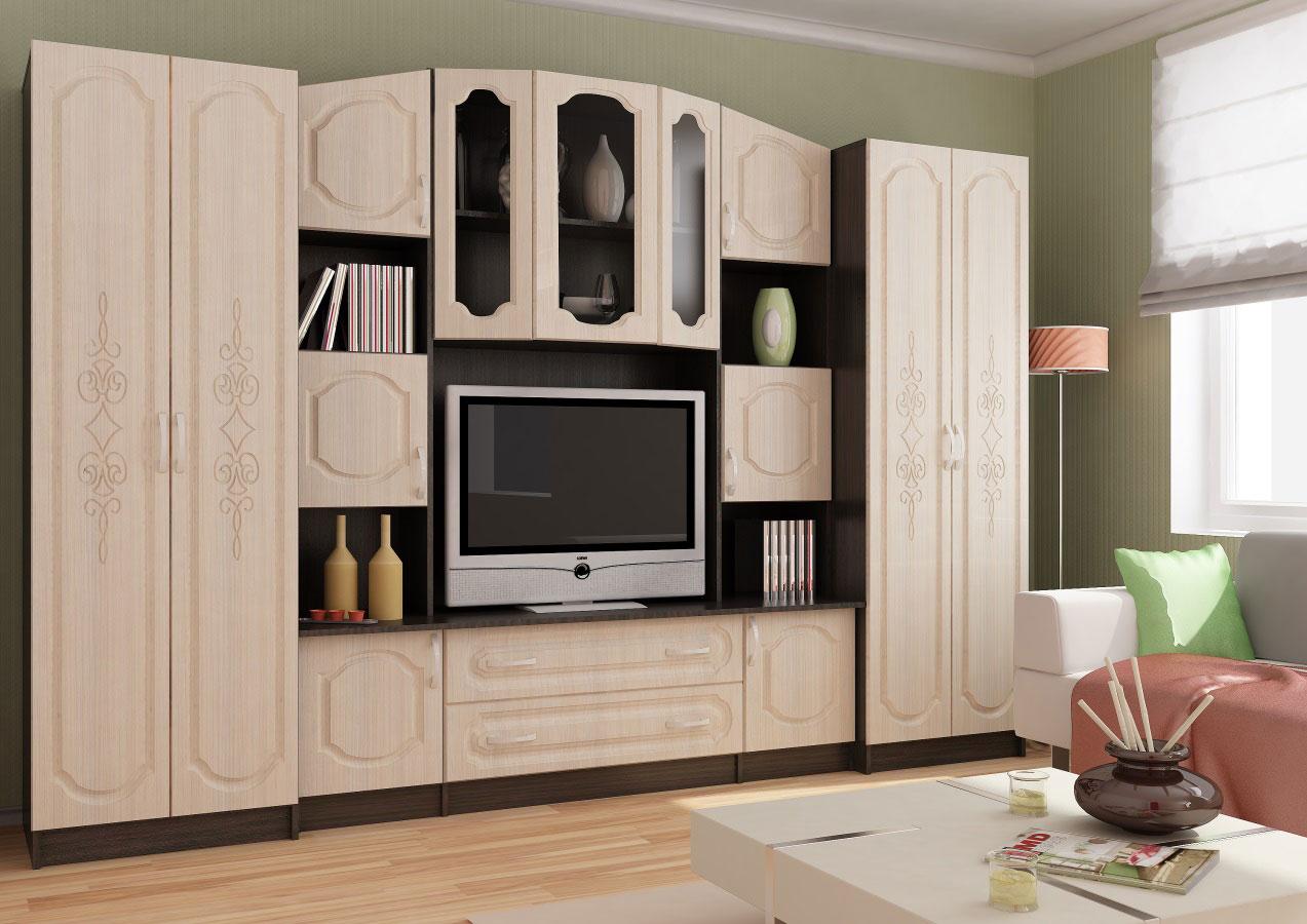 Корпусная мебель с резными элементами