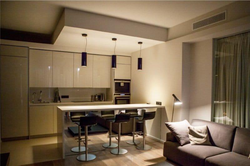 Кухня - гостиная в стиле минимализм