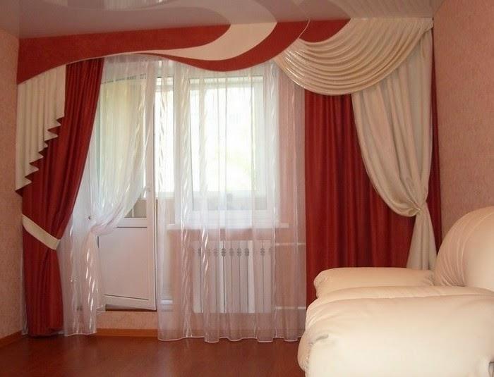 Ткань штор и ламбрекен в едином стиле