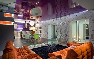 modern-living-room-design-purple-stretch-ceiling