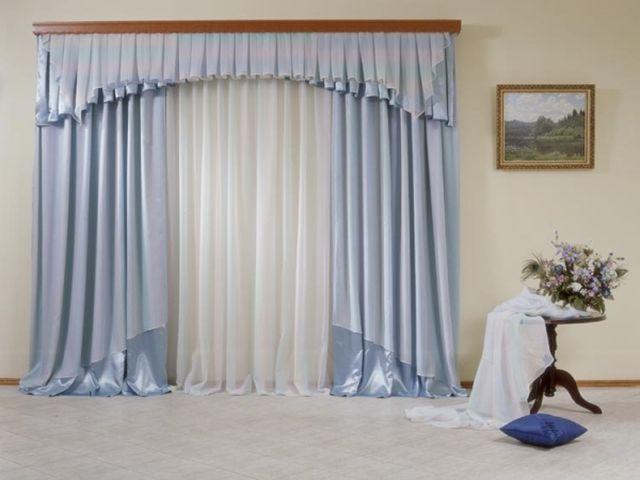 Сдержанная многослойность штор в стиле модерн