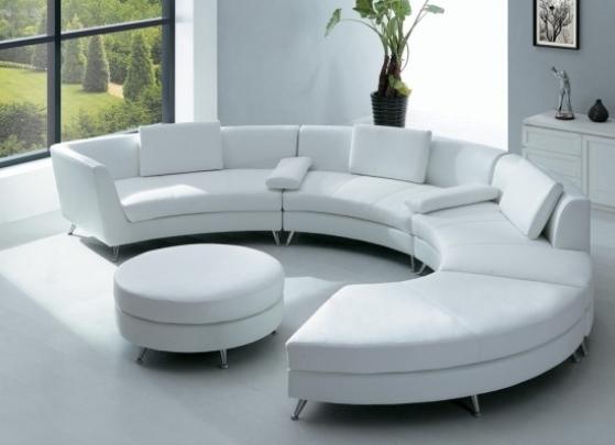 Круглый модульный диван