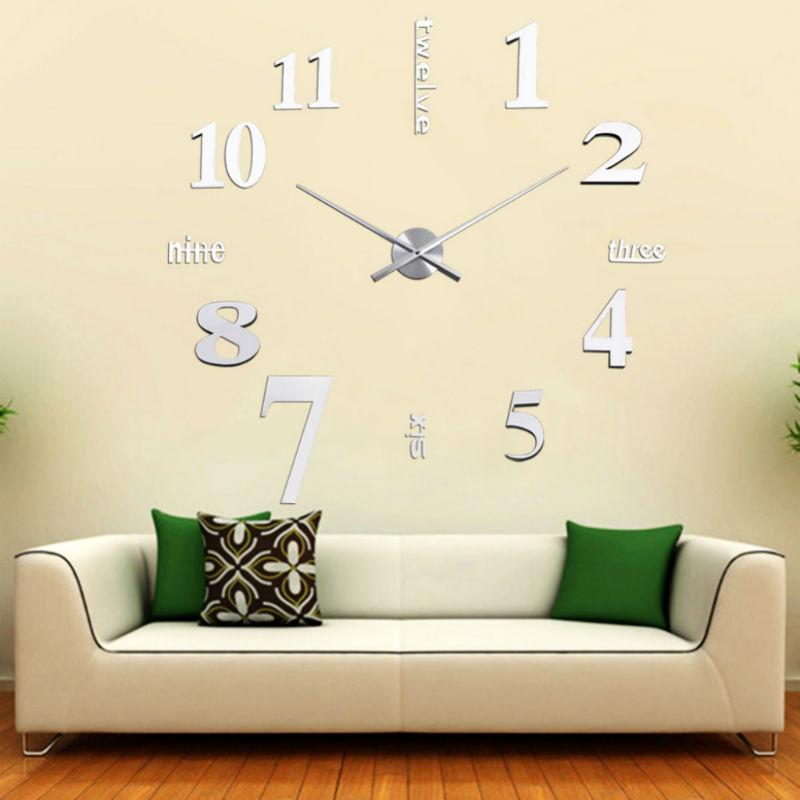 Большие оригинальные настенные часы для гостиной
