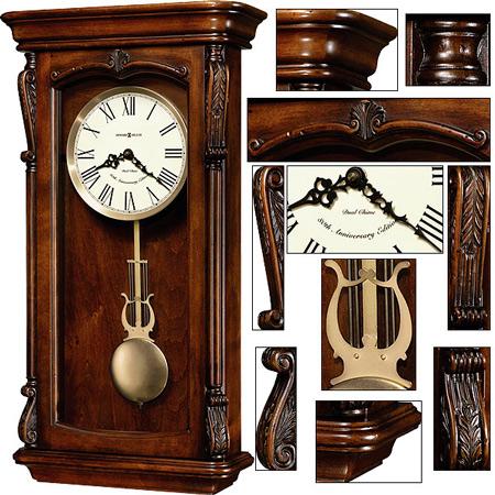 Старинные настенные часы с механическим боем