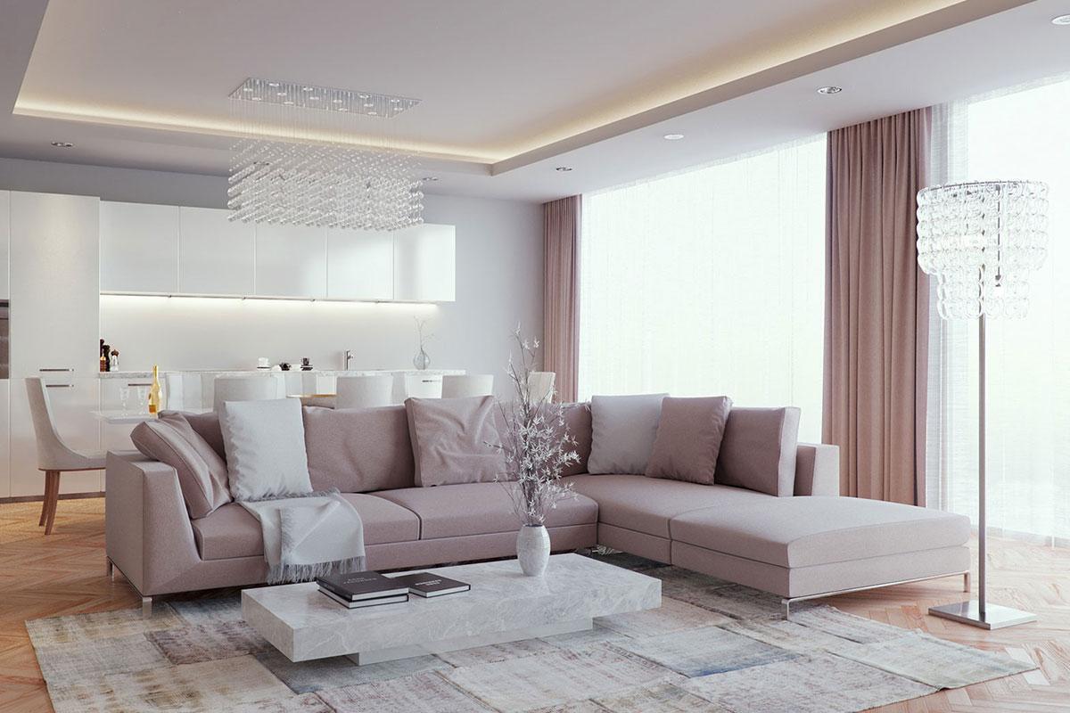 Фото штор в гостиной