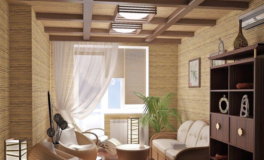 Дизайн гостиной в японском эко - стиле