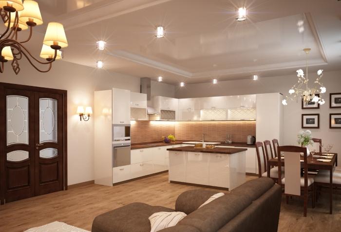 Островная кухня - гостиная
