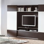 outstanding klach brown and white finish living room wall unit inspiration feature rectangle glass top coffee table and white area rug also brown shade floor lamp with modular wall units and modern wa