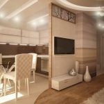 partition between the kitchen and the living room for luxury Room with Beautiful Ceiling Decoration