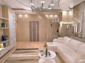 partition-wall-design-ideas-for-Luxury-Livingroom-with-Sofa-and-Wooden-Floor-Laminated-also-Open-Selves