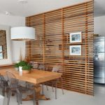 raumtrenner ideas partition wall of wood kitchen and dining room separate room dividers