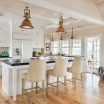 rustic hickory kitchen cabinets Kitchen Traditional with beach house built in 1