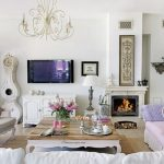 shabby chic living room decor interior design ideas vintage furniture fireplace