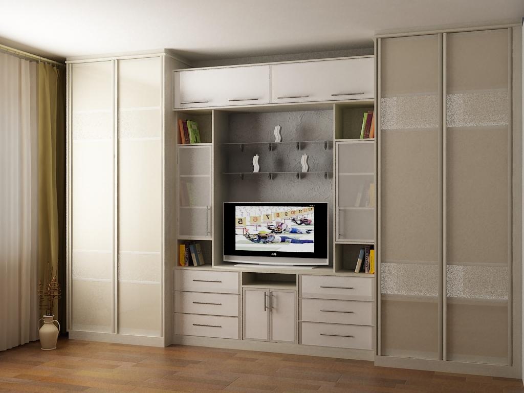 Стенка для гостиной со шкафом для одежды: стилевые решения, .