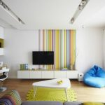 stripe wallpaper living room wall accent colored fresh