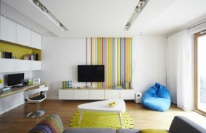 stripe-wallpaper-living-room-wall-accent-colored-fresh