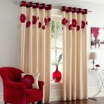 stunning home curtains decorations cream color curtains with red floral pattern horizontal pattern curtains stainless steel curtain rod white wall paint color home decorative curtains decorating dazz 728x728