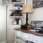 traditional-living-room-sideboard-storage-blanket-chest-headboard-clocks-corner-cabinet-crystal-chandelier