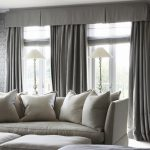 traditional window valance gray curtains living room design ideas