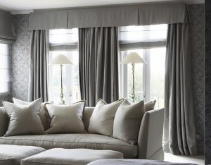 traditional-window-valance-gray-curtains-living-room-design-ideas
