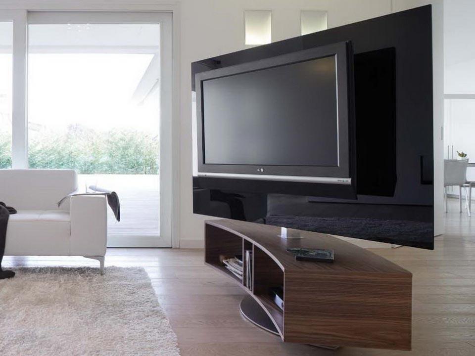 Тумба под телевизор закругленной формы