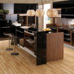 vitrea glossy lacquer with natural wood kitchen design 1