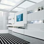 white striking minimalist contemporary living spaces built ins 1