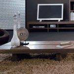 white vase living room centerpieces on short brown wood coffee table on flurry rug area black floor and lcd tv on captivating home accessories