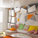 Использование геометрических элементов при оформлении интерьера