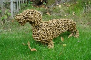 'DACHSHUND WILLOW sculpture' by
