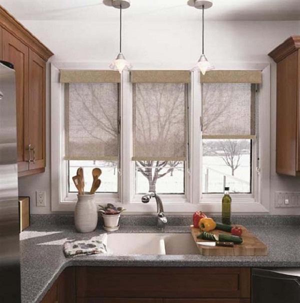 фото римские шторы на кухне