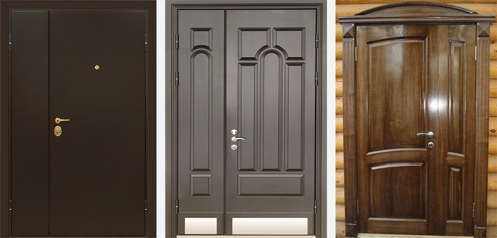 металлические входные двухстворчатые двери недорого с установкой