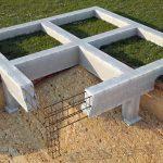 Столбчатый фундамент с бетонным ростверком