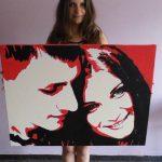 stil pop art v portretax na zakaz