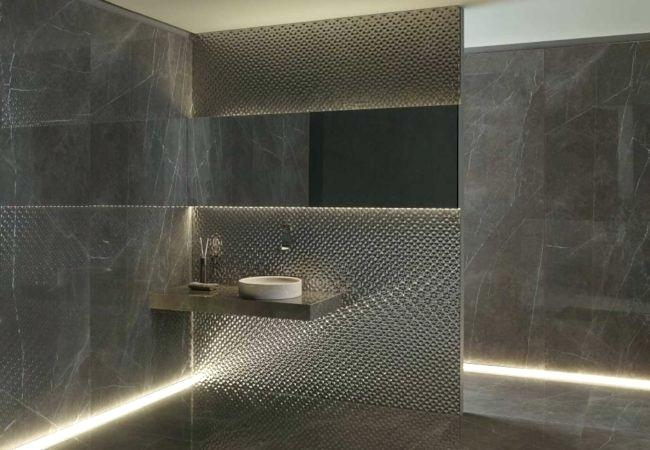 exclusive wall tiles lifestyle ceramics bronze tile effect bathroom
